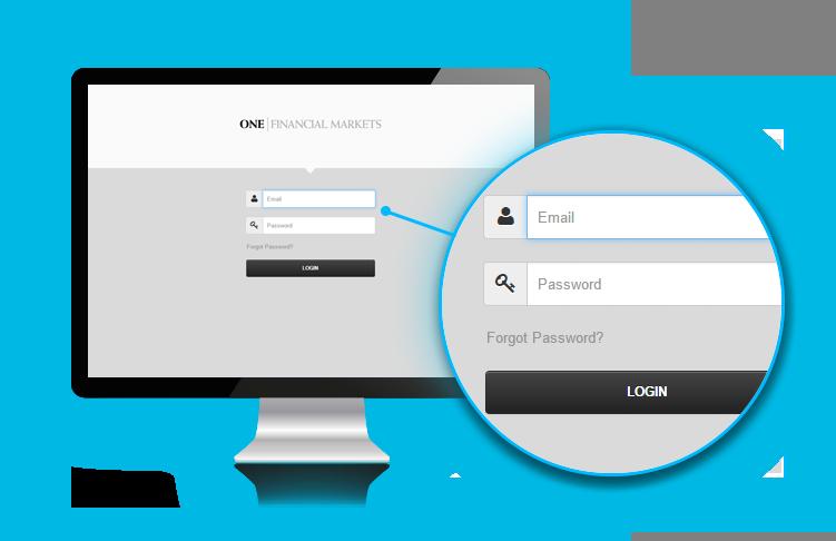 Client portal login screen